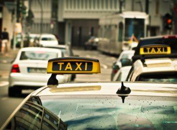 Protest taksówkarzy w Częstochowie