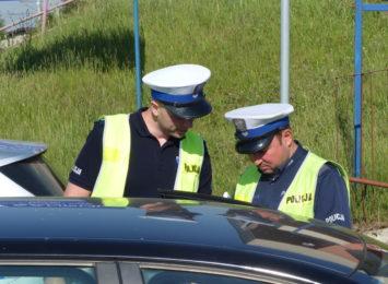 Kaskadowy pomiar prędkości podsumowany. Akcję prowadzili policjanci z kłobuckiej drogówki