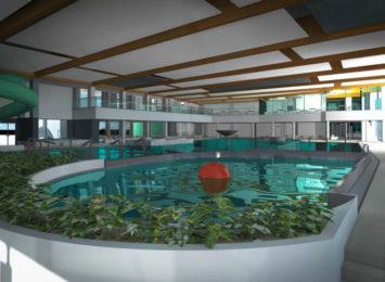 Budynek przyszłego parku wodnego przy ul. Dekabrystów rośnie w szybkim tempie
