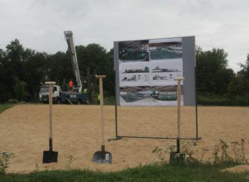Sprawny postęp prac na budowie Parku Wodnego przy Dekabrystów