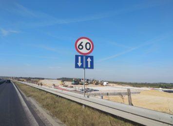 Odcinkowy pomiar prędkości na budowanej autostradzie A1