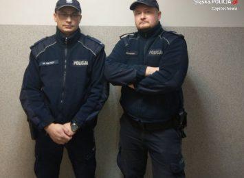 Bohaterska postawa policjantów z Koniecpola