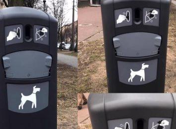 Na Rakowie nowe pojemniki na psie odpady