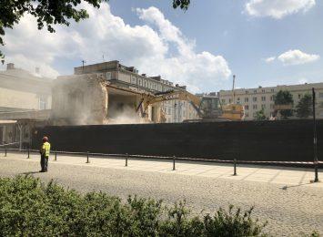 Kamienica przy alei NMP 49 już całkowicie wyburzona