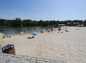 Pierwsze dni na nowym kąpielisku z dużą frekwencją