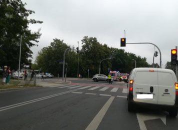 Groźny wypadek na skrzyżowaniu ulicy Dekabrystów z Kiedrzyńską