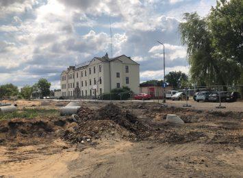 Kolejny etap pracy przy budowie centrum przesiadkowego na Stradomiu