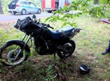 Kolejny wypadek z udziałem motocyklisty w naszym regionie