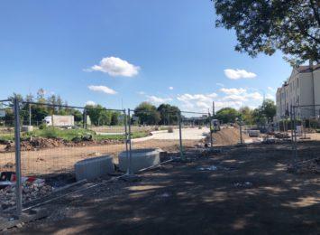 Trwają prace przy budowie węzła przesiadkowego przy dworcu Stradom