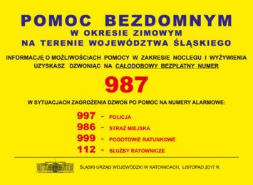 Numer 987 dla bezdomnych