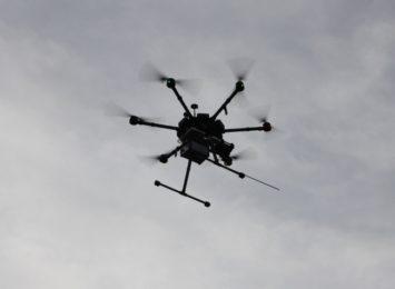 Dron naszpikowany czujnikami latał wczoraj nad Myszkowem