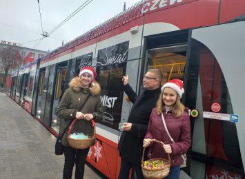 Świąteczny Twist przemierzał linię tramwajową