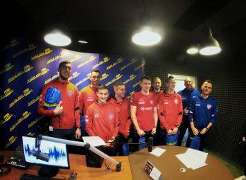 Piłkarze Rakowa z wizytą w studiu Radia Jura [WIDEO]