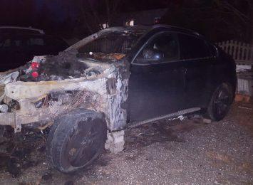 Spłonęło BMW. Poszukiwani są sprawcy podpalenia [KOMUNIKAT]