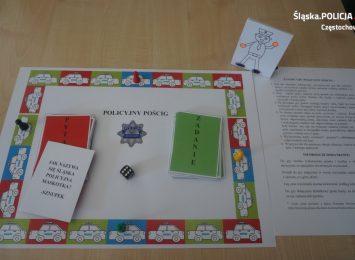 Policjanci z Częstochowy stworzyli dla dzieci grę planszową