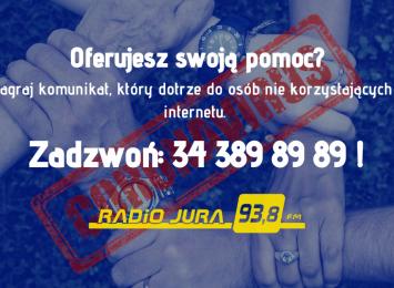 Oferujesz swoją pomoc? Nagraj komunikat: 34 389 89 89!