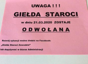 Sobotnia (21.03.) Giełda Staroci odwołana