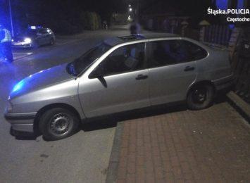 Pijany jeździł autem po gminie Kłomnice