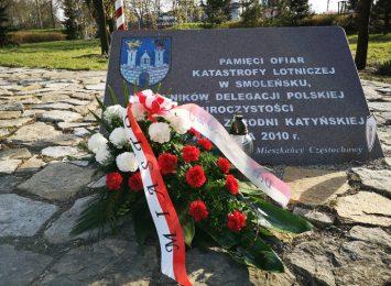 Mimo trwającej epidemii Częstochowa pamięta o 10 rocznicy katastrofy rządowego samolotu pod Smoleńskiem