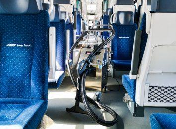 Koleje Śląskie wdrażają kolejną technologię w dezynfekcji składów