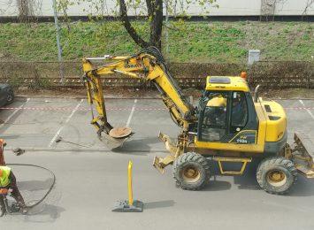 Ulica Wilsona w centrum Częstochowy już w trakcie remontu