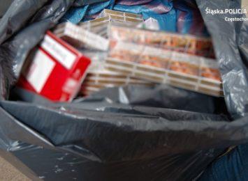 Prawie 20 tys. papierosów i 10 kg tytoniu bez polskich znaków akcyzy przejęli częstochowscy policjanci