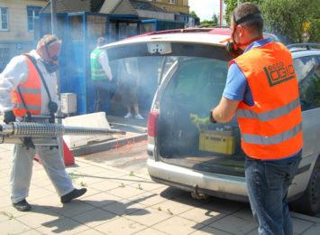 Sobotnia (27.06.) darmowa dezynfekcja samochodów z dużą frekwencją