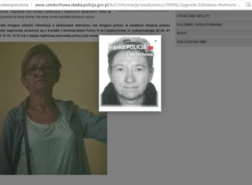 Zaginęła 56 latka z Częstochowy