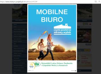"""Mobilne Biuro Programu """"Czyste Powietrze"""" odwiedzi Olsztyn"""