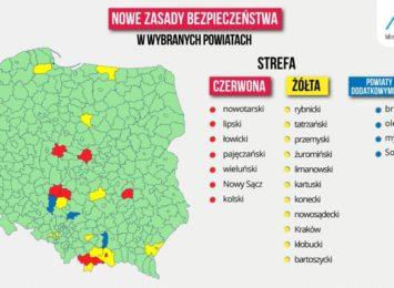 """Powiat kłobucki znalazł się w """"żółtej strefie"""""""