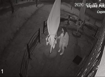 Częstochowska policja poszukuje sprawcę podpalenia parasola ogrodowego
