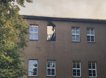 Wczoraj wieczorem ogień znów pojawił się w budynku Zespołu Szkół im św. Edyty Stein w Lublińcu