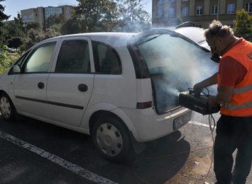 Kierowcy znów chętnie skorzystali z bezpłatnej dezynfekcji samochodów