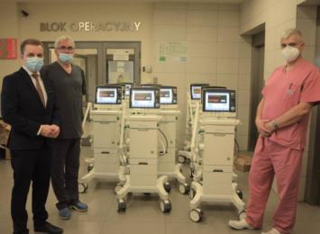 Dziesięć nowych respiratorów trafiło do Szpitala Powiatowego w Myszkowie