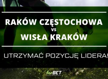 Raków Częstochowa vs Wisła Kraków – utrzymać pozycję lidera!