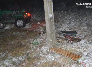 Wypadek podczas kuligu w miejscowości Ryczów-Kolonia
