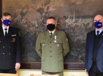 Podpułkownik Adrian Klimek z WKU Częstochowa z awansem