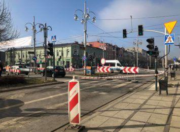 Zaczął się zapowiadany remont torowiska na skrzyżowaniu alei NMP z ulicą Wolności i Kościuszki