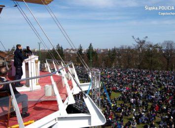 10 tysięcy motocyklistów odwiedziło w niedzielę (11.04.) Jasną Górę