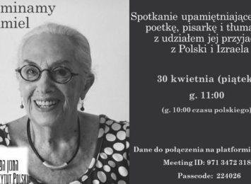 Wirtualne spotkanie pamięci Irit Amiel Instytutu Polski w Tel Awiwie