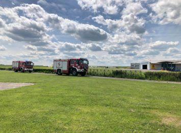 Wypadek z udziałem szybowca na lotnisku w Rudnikach. Trwa akcja ratownicza