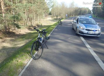 Groźny wypadek z udziałem dwóch... rowerzystów