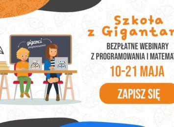 Szkoła z Gigantami. Darmowe webinary z programowania dla dzieci i młodzieży