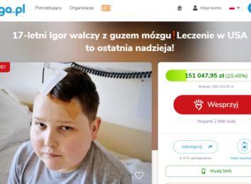 17-letni Igor z Częstochowy potrzebuje operacji ratującej życie w USA. Trwają zbiórki i licytacje