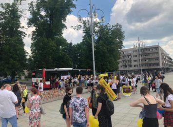 Kultura Nie Boli, czyli happeningi plastyka znów zagościły na Placu Biegańskiego