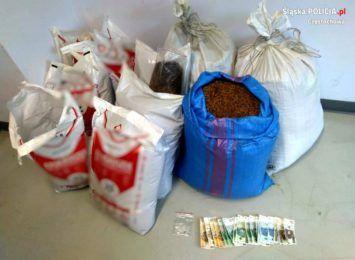 Nielegalny tytoń znaleziony u 29 latka z Kłomnic. Chodzi o ponad 100 kg suszu