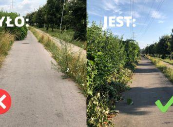 Jest już porządek na ścieżce rowerowej na Szajnowicza-Iwanowa