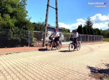 Częstochowscy dzielnicowi na patrolach rowerowych