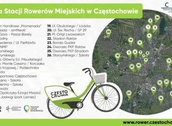 Ta informacja z pewnością ucieszy użytkowników Częstochowskiego Roweru Miejskiego