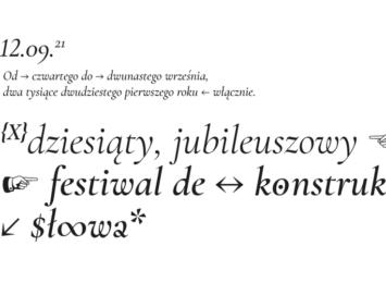 """Jubileuszowy Festiwal Dekonstrukcji Słowa """"Czytaj"""""""